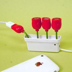 A flower field of USBs!