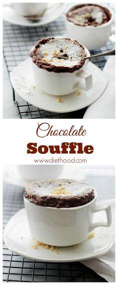 Boozy Hazelnut Chocolate Souffle | www.diethood.com | #recipe #chocolate #souffle recipes chocolate, hazelnut chocol, recip chocol, gluten free, boozi hazelnut, chocol souffl