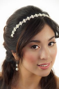 Bridal Headband Crystal headband Art Deco Headband by VioGemini, $44.99