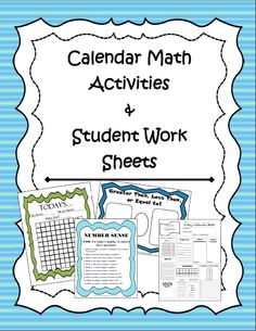 Supplement your current Calendar Math program with these great activities and student worksheets.