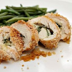 Pepper-jack & spinach stuffed cajun chicken