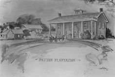 The Patton Plantation now part of Varner Hogg State park - courtesy of the Brazoria County Historical Museum