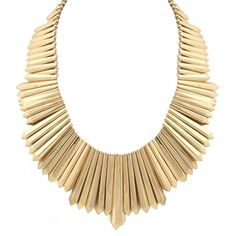 Belle Noel By Kim Kardashian Mini Dagger Collar Necklace ($188) found on Polyvore