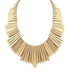 Belle Noel By Kim Kardashian Mini Dagger Collar Necklace ($188) found on Polyvore