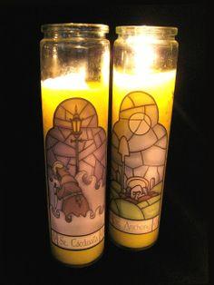 DAVE LOWE DESIGN the Blog: Halloween '10 - Sinister Saint Novena Candles