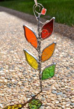 Fall Branch Stained Glass Suncatcher. $14.00, via Etsy.