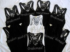 Wedding Bridal Party Lace Tank Top