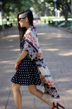 DIY kimono + pretty ways to style it.