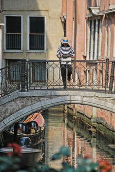 Taking a break in Venice