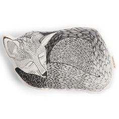 Sleeping Fox Pillow White now featured on Fab.