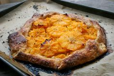 Satsuma Orange Galette with a Cream Cheese Crust