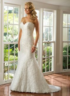 Lace Sweetheart Wedding Dress from 93 Bridal