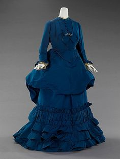 afternoon dress from 1872.