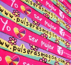 Pulseras MAGISA  México  -.-  Pulsera de listón tejida   ventas@pulserasmagisa.com