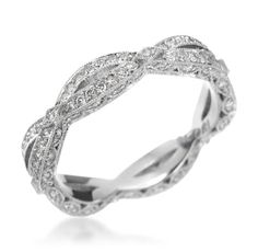 Tacori - Crescent Silhouette Collection Platinum 0.61ctw Diamond Eternity Band (Available at Michael C. Fina)
