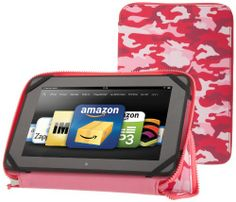 Zip Around Standing Case, Pink Camouflage -( Kindle Fire HD 8.9) for girls