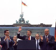 Reagan's speech at the Bradenburg Gate. Mr Gorbachov, tear down this wall!