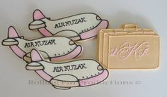 Honeymoon Cookies as Wedding Favors, Wedding Cookies by Rolling Pin Productions www.rollingpinproductions.com  #weddings
