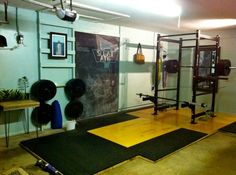 Garage Gym  / Olympic Platform Rack and Weights / All you need