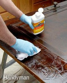 Try a liquid sander/deglosser to prepare a clear finished surface for painting. It's faster and easier than sanding.