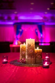 Mehndi decor, DIY candles, DIY wedding decor #henna