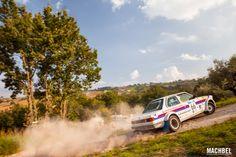 BMW 323i de Giovanni Muccioli Matteo Cima derrapando Rally Legend Histórico San Marino 2014 by machbel
