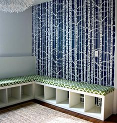 DIY Bookcase Into Cushioned Bench and Storage