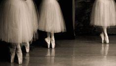 Black and white ballet photo