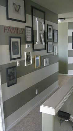 striped paint wall (+ gallery wall)