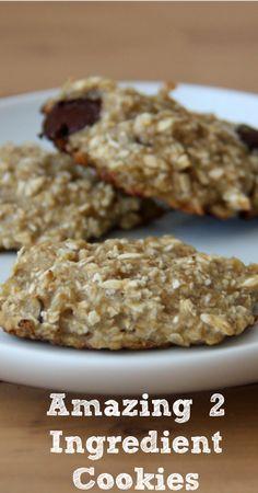 Amazing 2 Ingredient Banana Cookies :: Five Little Homesteaders