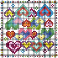 biscornu, crossstitch, cross stitch charts, cross stitches