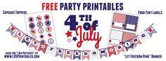juli parti, lds printabl, party printables, parti printabl