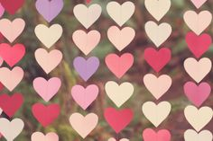 DIY heart garland - so cute & easy!