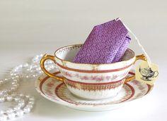 DIY tea bag favors w/cookies inside - Celebrations At Home blog