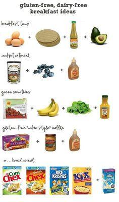 Gluten free dairy free foods