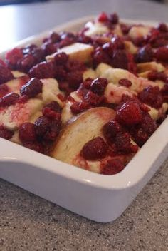 Kneader's Raspberry Bread Pudding.