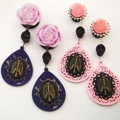 Cute rib cage cameo plugs by glamsquared