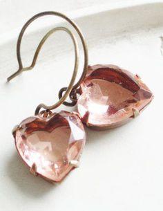 Valentine Jewelry Vintage Heart Earrings