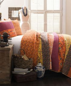 Another great find on #zulily! Tangerine Royal Empire Quilt Set #zulilyfinds