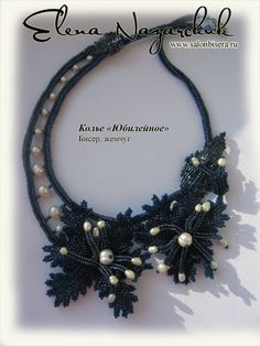 """Necklace """"Jubilee."""" - schemas and directions, but must translate.  #Seed #Bead #Tutorials"""
