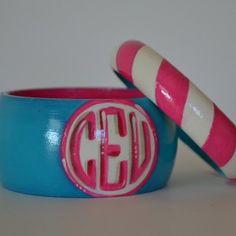 Diagonal Stripe Double Bangle www.stacybrowndesigns.com