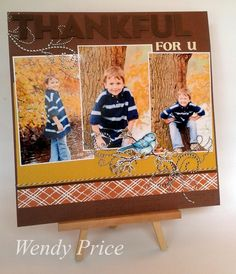 Fantastic Fall Layout from @Wendy Price featuring #Stampendous images on #PaperCraftPlanet! LOVE!!