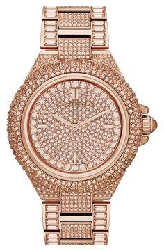Michael Kors Rose Gold Crystal Encrusted Watch