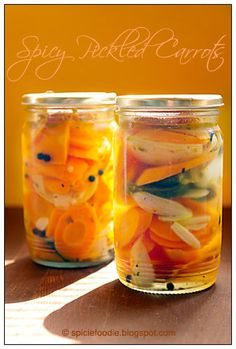 Zanahorias en Escambeche; Mexican spicy pickled carrots; carrots; pickled; pickles; how to; receta; recipe; Mexican; canning; fast; food; fr...