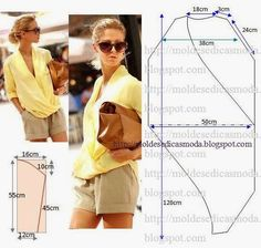 Cross blouse pattern #tops #focustextil