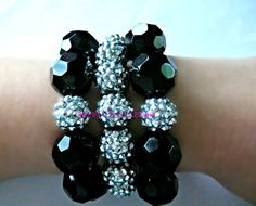Pink Dazzled Black Crystal Bling Basketball Wives by PinkDazzled, $24.99
