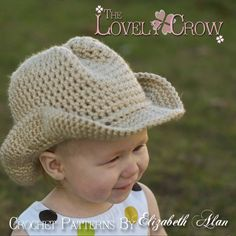 Cowboy/Cowgirl Crochet Hat! Too cute for words.