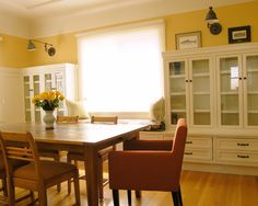 Traditional Dining Room Dining Room With Yellow Walls Design