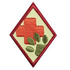 Girl Scout Cadette Badge - Animal Helpers.  Check out the requirements in The Girl's Guide to Girl Scouting. Girl Scout badges $1.50.