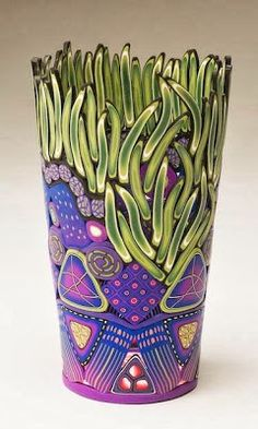 Polymer Clay Vase by Emily Squire Levin